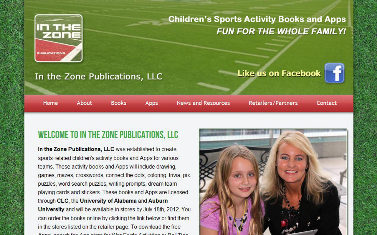 In the Zone Publications, LLC was established to create sports-related children's activity books and Apps for various teams. These activity books and Apps will include drawing, games, mazes, crosswords, connect the dots, coloring, trivia, pix puzzles, word search puzzles, writing prompts, dream team playing cards and stickers.