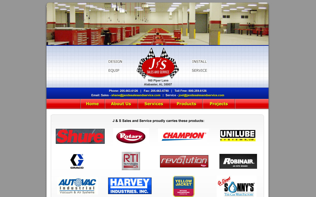 Established in 1989 J&S Sales and Service is now one of the nations premiere turn-key automotive service facility providers. We design, equip, provide installation and service to automotive dealers throughout the Southeast.