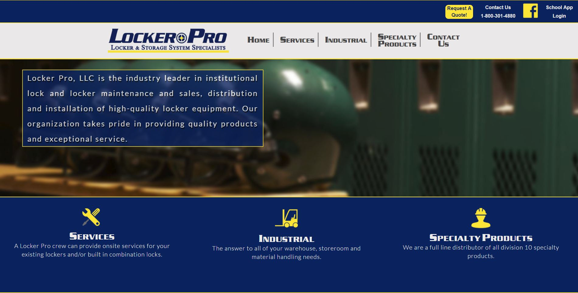 Locker Pro, LLC is the industry leader in institutional lock and locker maintenance and sales, distribution and installation of high-quality locker equipment.